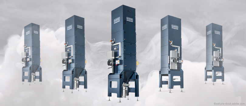 Industrierauchfilter IRF - Sicheres Schweißen, Schneiden, Schleifen und Sägen