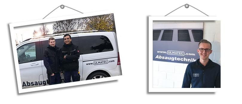 Unsere neuen Service-Techniker | ULMATEC Absaugtechnik