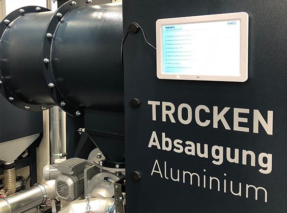 Trockenabsaugung für Aluminium | ULMATEC Absaugtechnik
