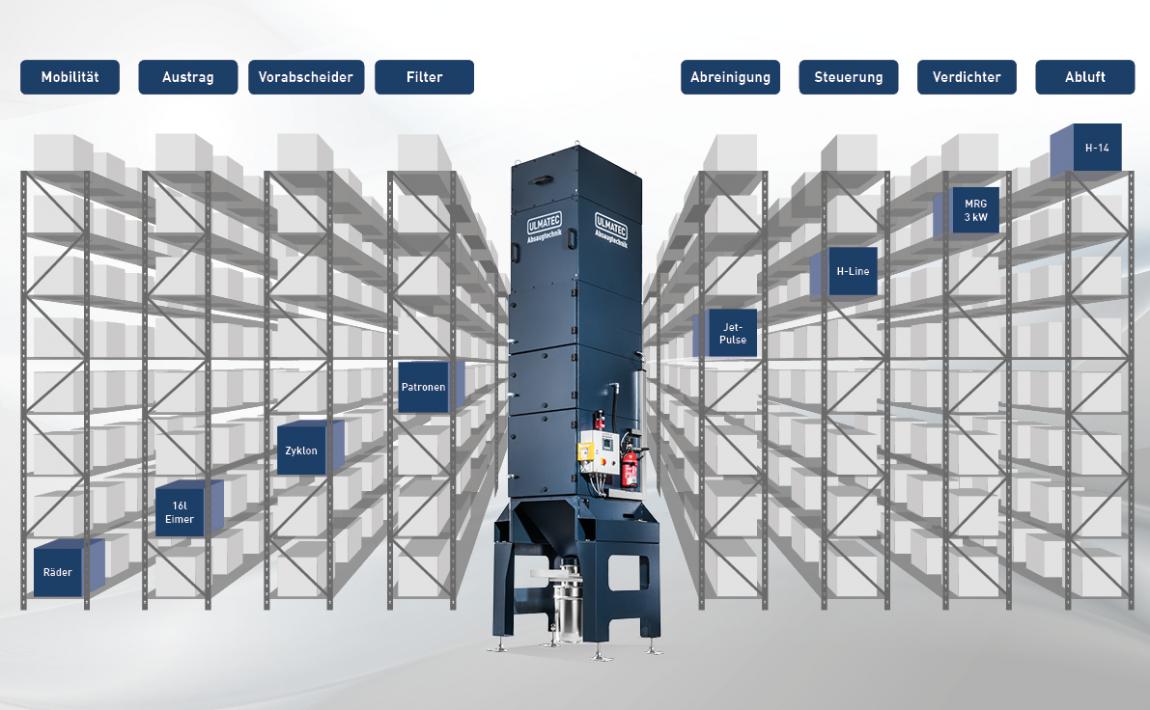 Modulare Bauweise | ULMATEC Absaugtechnik
