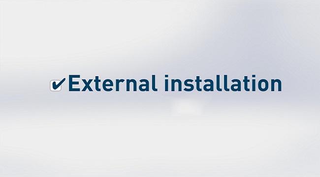External installation